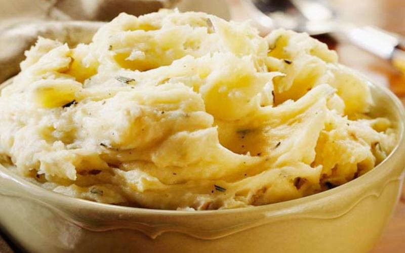 Aardappelpuree met brie
